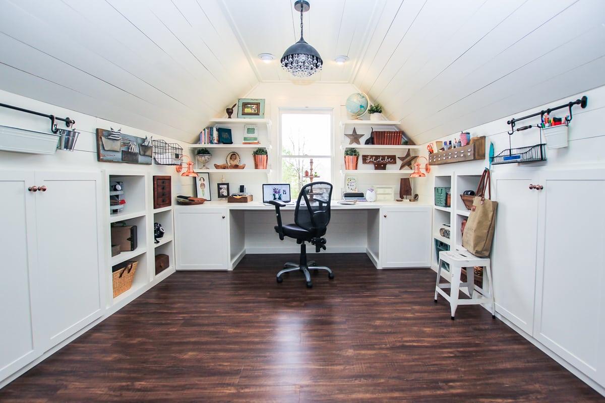 office craft room. Renovated-Attic-Playroom-Office-Craft-Room-by-Unskinny-Boppy-8-2 Office Craft Room