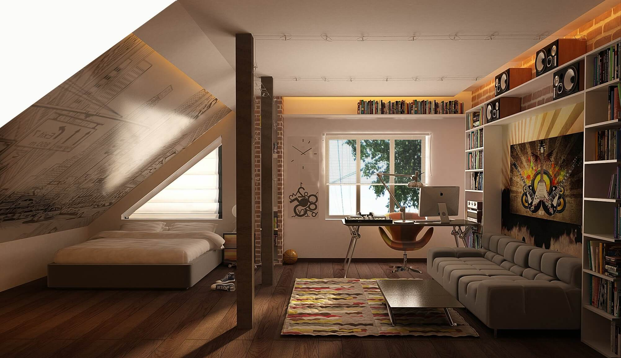 College Dorm Room Loft Ideas For Guys Tumblr
