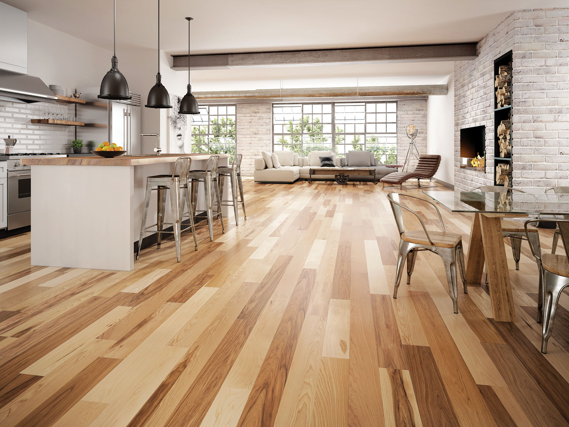Hickory Hardwood Flooring Natural Emira